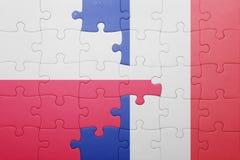 Déconcertez avec le drapeau national de la Pologne et des Frances Photo libre de droits