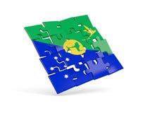 Déconcertez le drapeau de l'Île Christmas d'isolement sur le blanc Photo libre de droits