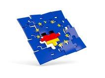 Déconcertez le drapeau de l'Union européenne et le drapeau de l'Allemagne illustration stock