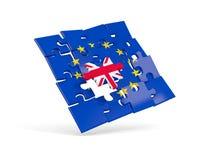 Déconcertez le drapeau de l'Union européenne et le drapeau du R-U illustration de vecteur