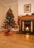 Décor à la maison de Noël Photos libres de droits