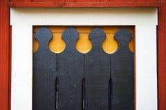 Décor architectural en bois images stock