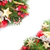 Décor coloré de Noël, arbre à feuilles persistantes de Noël photos libres de droits