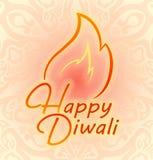 Décor coloré heureux de Diwali pour le festival indien des feux Image stock