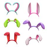 Décor coloré mignon d'oreilles de lapin Photographie stock
