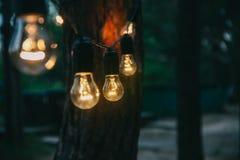Décor d'ampoule en partie extérieure photographie stock