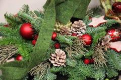Décor d'hiver de Noël Photographie stock libre de droits