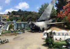 Décor de film de catastrophe d'accident d'avion Photographie stock libre de droits