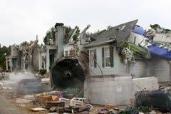 Décor de film de désastre de crash d'air Images libres de droits