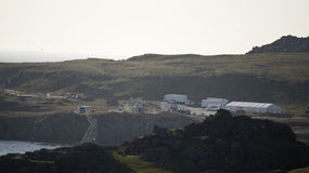 Décor de film de Star Wars à la baie de Breasty en Malin Head, Co Le Donegal, IR Images libres de droits