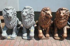 Décor de jardin de lion Photographie stock libre de droits