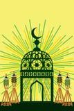 Décor de jouet de Ramadan à la table Photographie stock libre de droits