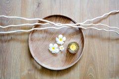 Décor de la méditation de zen, mindfulness ou massage de choyer, au-dessus de vue photos libres de droits