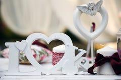Décor de mariage Photographie stock libre de droits