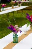 Décor de mariage de fleur Photographie stock