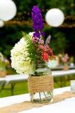 Décor de mariage de fleur Photo libre de droits