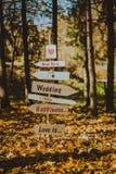 Décor de mariage, indicateur photos stock