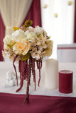 Décor de mariage, vin de Marsala de couleur Photo libre de droits