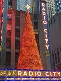 Décor de Noël à la ville par radio à New York Image libre de droits