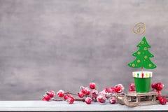 Décor de Noël cardez la salutation de Noël Noël de symbole photo libre de droits