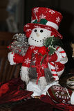 Décor de Noël de bonhomme de neige Image libre de droits