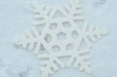 Décor de Noël de flocon de neige Images stock