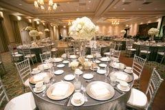 Décor de table de mariage image stock