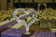 Décor de table de mariage Images libres de droits