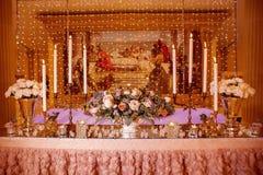 Décor de table de mariage photographie stock
