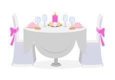 Décor de Tableau de mariage servi avec les plats de luxe Image libre de droits