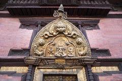 Décor de temple hindou Photos stock
