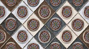 Décor de tuile de mur de Digital pour la conception de carreau de céramique à la maison et, patchwork coloré sans couture dans le illustration de vecteur