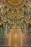 Décor des portes de la mosquée de canalisation de St Petersburg Images stock