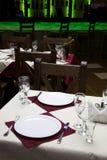 Décor en el restaurante Foto de archivo libre de regalías