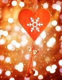 Décor en forme de coeur pour Noël Photo stock