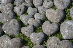 Décor en pierre de coeurs Image stock