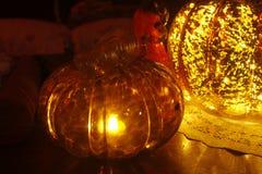 Décor en verre de potirons Image libre de droits