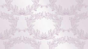 Décor fait main d'ornement d'illustration de vecteur de modèle de damassé Textures baroques de fond Photographie stock