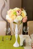 Décor floral de mariage Photographie stock