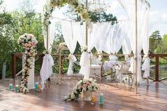Décor pour la cérémonie de mariage Photo stock