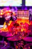 Décor pour un grand dîner de partie ou de gala photographie stock