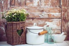 Décor rustique à la maison confortable Photo libre de droits