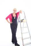 Décorateur de femme prêt pour le travail photos stock