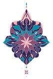 Décoratif floral de vintage de vecteur la dentelle illustration de vecteur