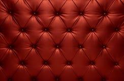 Décoration à carreaux de cuir d'entraîneur de capitone rouge Photos libres de droits