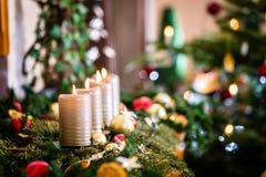Décoration à la maison de Noël pour l'avènement photographie stock