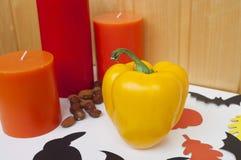 Décoration à la maison pour Halloween Image libre de droits