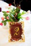 Décoration élégante de table de mariage Images libres de droits