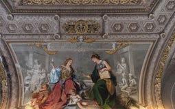 Décoration étonnante dans le musée de Vatican Photos stock