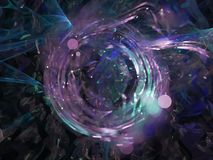 Décoration abstraite de fractale numérique, future conception numérique magique dynamique, disco illustration de vecteur